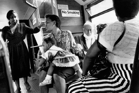 Bus, Peckham 1991 (C) Peter Marshall